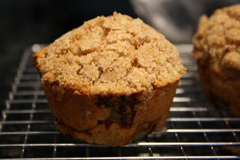 Whole Wheat Rhubarb and Streusel Muffins