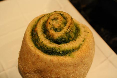 Whole Wheat Pesto Rolls