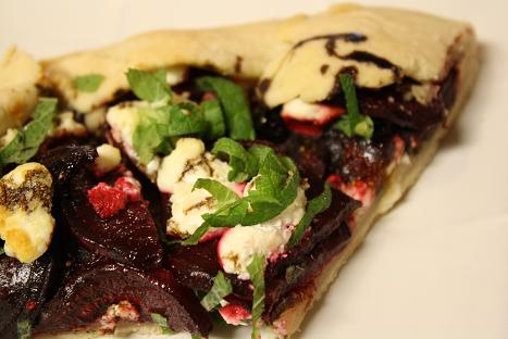 Tart with Beet, Fig, and Chevre