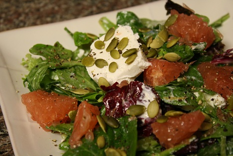 Wintry Salad with Grapefruit and Goat Cheese