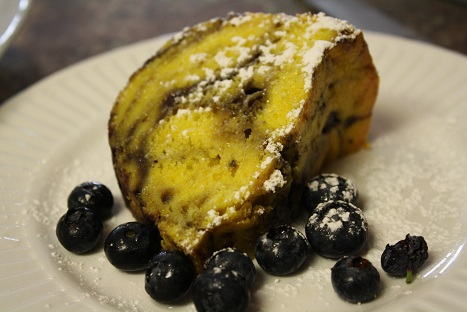 Blueberry Lemon Bundt Cake = One Stress Free Girl!