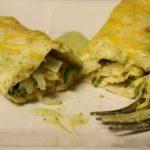 Avocado Cilantro Lime Cream Enchiladas