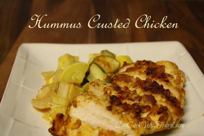 Hummus Crusted Chicken Dish