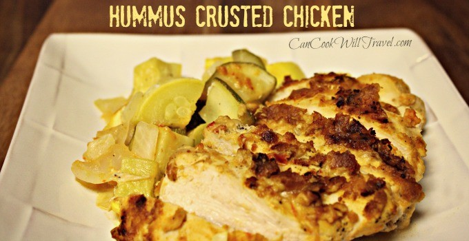 Tasty & Tangy Hummus Crusted Chicken