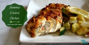 Healthy Hummus Crusted Chicken