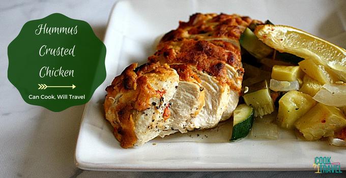 Hummus Crusted Chicken