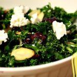 Kale Salad with Warm Cranberry Vinaigrette_Slider