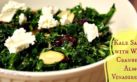 Learning to Love Salads – Part 15: Kale Salad with Warm Cranberry Vinaigrette