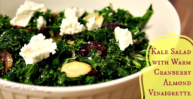 Kale Salad with Warm Cranberry Vinaigrette_Slider