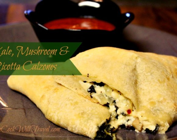 Kale, Mushroom & Ricotta Calzones