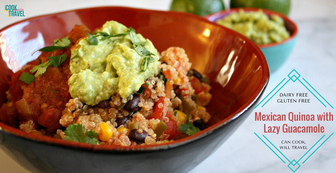 Lunchtime Gets Fancy – Mexican Quinoa and Guacamole