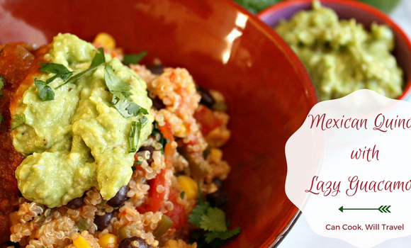 Mexican Quinoa with Lazy Guacamole