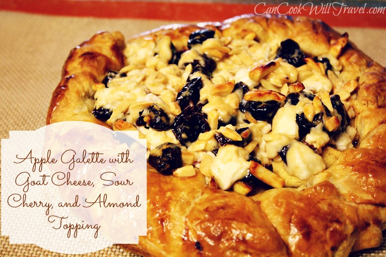 Apple, Cherry, & Goat Cheese Galette