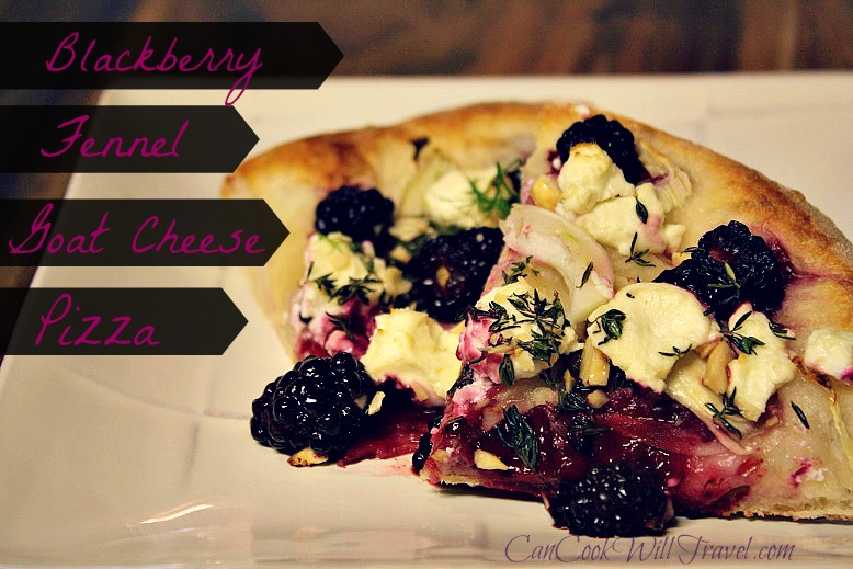 Feeling Fancy with Blackberry, Fennel and Goat Cheese Pizza