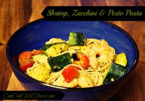 Shrimp, Zucchini and Pesto Angel Hair Pasta