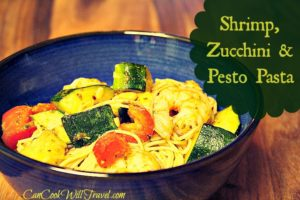 Well That Was Easy! Shrimp, Zucchini and Pesto Pasta