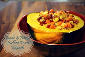 Apple and Bacon Stuffed Acorn Squash Pretty Much Equals Fall