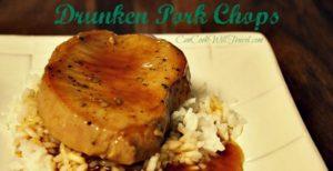 Bottoms Up for Drunken Pork Chops
