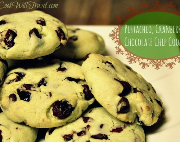 Pistachio Cranberry Chocolate Chip Cookies