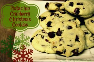Christmas Cookies with a Twist – Pistachio Cranberry Cookies