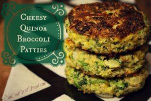 Cheesy Quinoa Broccoli Patties