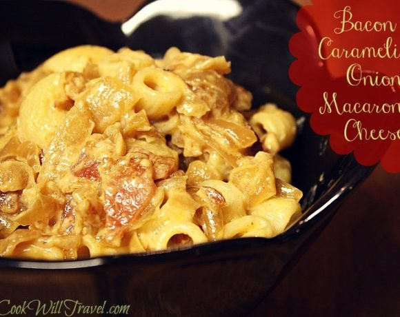 Bacon and Caramelized Onion Macaroni and Cheese