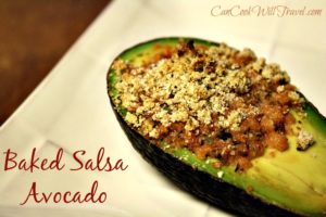 Baked Salsa in Avocado