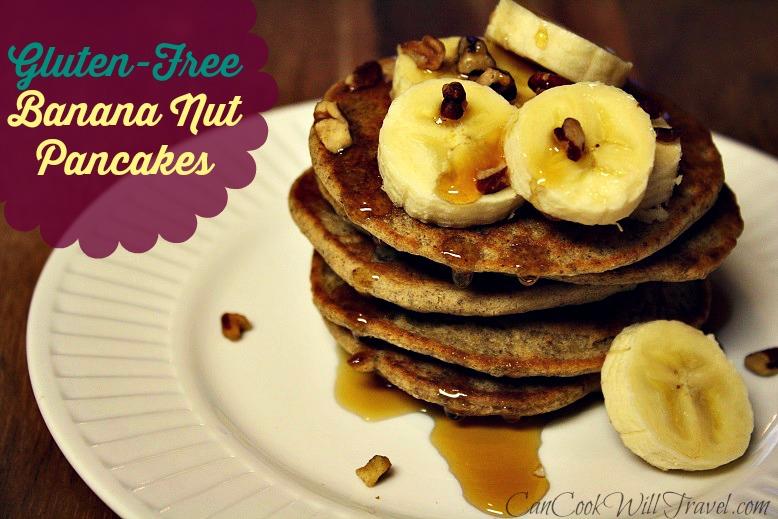 GF Banana Nut Pancakes