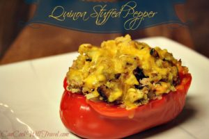 Well Hello Quinoa Stuffed Red Peppers!
