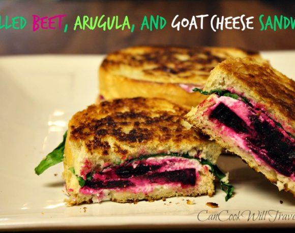 Fancy Schmancy Beet, Arugula and Goat Cheese Sandwich