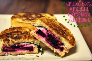 Grilled Beet, Arugula & Goat Cheese Sandwich