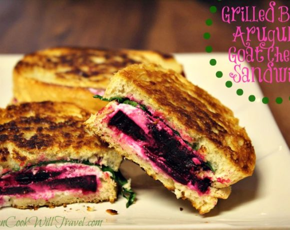 Grilled Beet, Arugula & Goat Cheese Sandwich