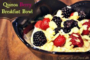 Quinoa Strikes Again with a Quinoa Berry Breakfast Bowl!