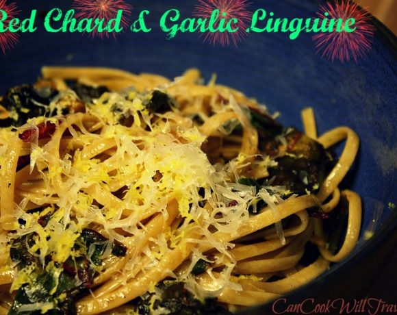 Red Chard and Garlic Linguine