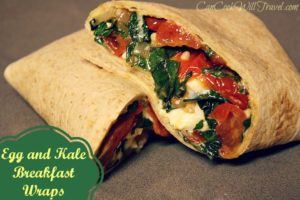 Healthy Egg and Kale Breakfast Wrap