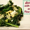 Spinach with Feta and Pine Nuts