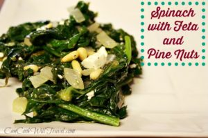 Feeling Like Popeye: Spinach with Feta and Pine Nuts