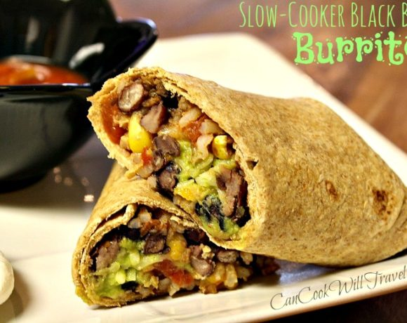 Cranking Up the Crock Pot with Black Bean Burritos