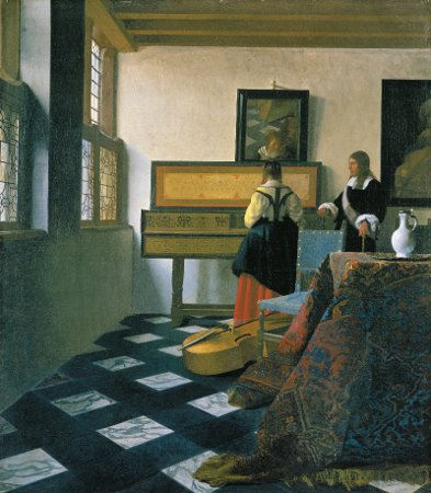 This is The Music Lesson, which was the painting that Tim attempted to recreate.