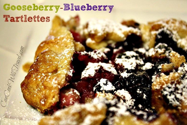 Gooseberry and Blueberry Mini Tarts