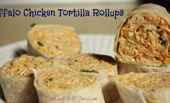 Buffalo Chicken Tortilla Rollups