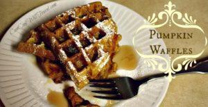 Pumpkin Waffles – Welcome Back Fall!