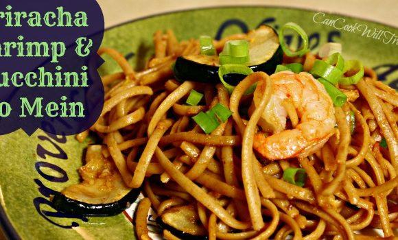 Sriracha Shrimp and Zucchini Lo Mein = One Damn Good Dinner!