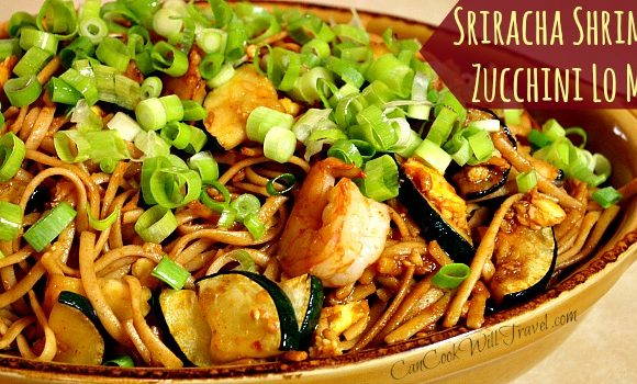 Spicy Sriracha Shrimp and Zucchini Lo Mein