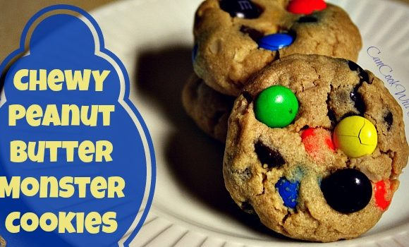 Chewy Peanut Butter Monster Cookies