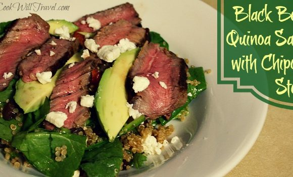 Learning to Love Salads – Part 16: Black Bean Quinoa Salad with Chipotle Steak