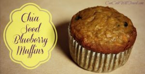 Chia Seed Blueberry Muffins