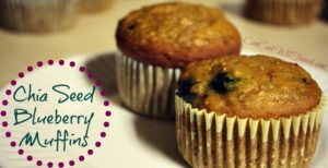 Chia Seed Blueberry Muffins = Healthy Comfort Food!