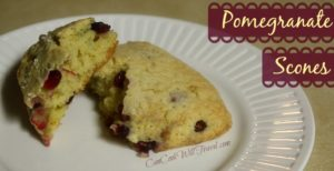 Pomegranate Orange Scones