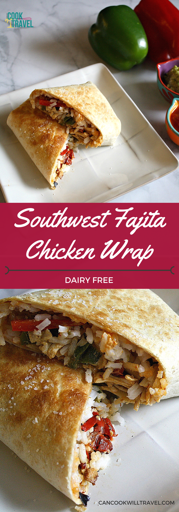 southwest fajita chicken wraps